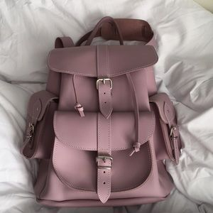 Grafea Lavender Lilac Leather Backpack